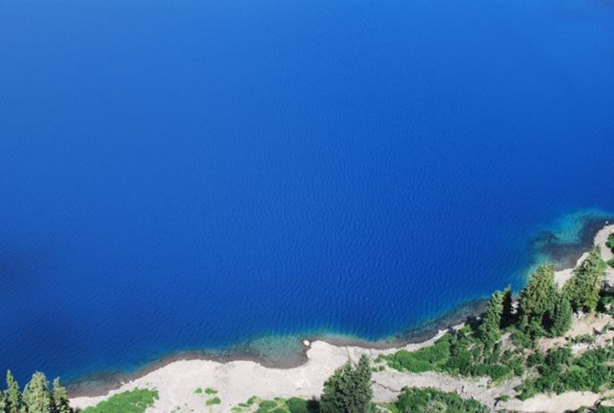 The amazingly blue waters of Crater Lake, Oregon