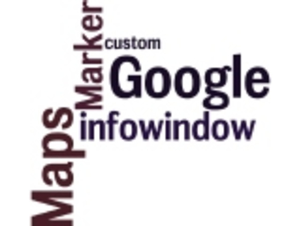 Google Maps Marker and Infowindow Wordle by Humagaia