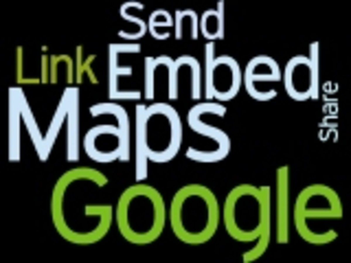 Google Maps Send Share Link Embed Wordle by Humagaia