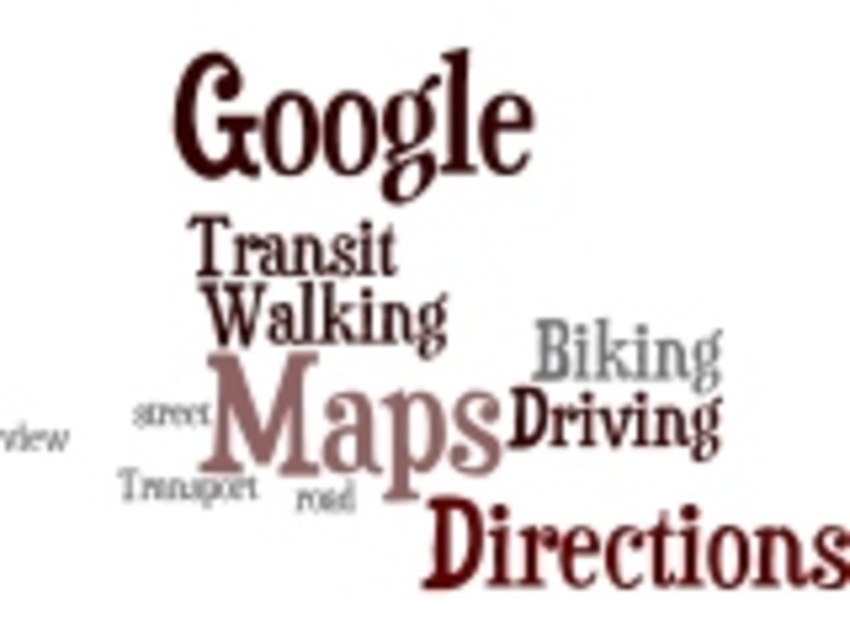 Google Directions Wordle by Humagaia