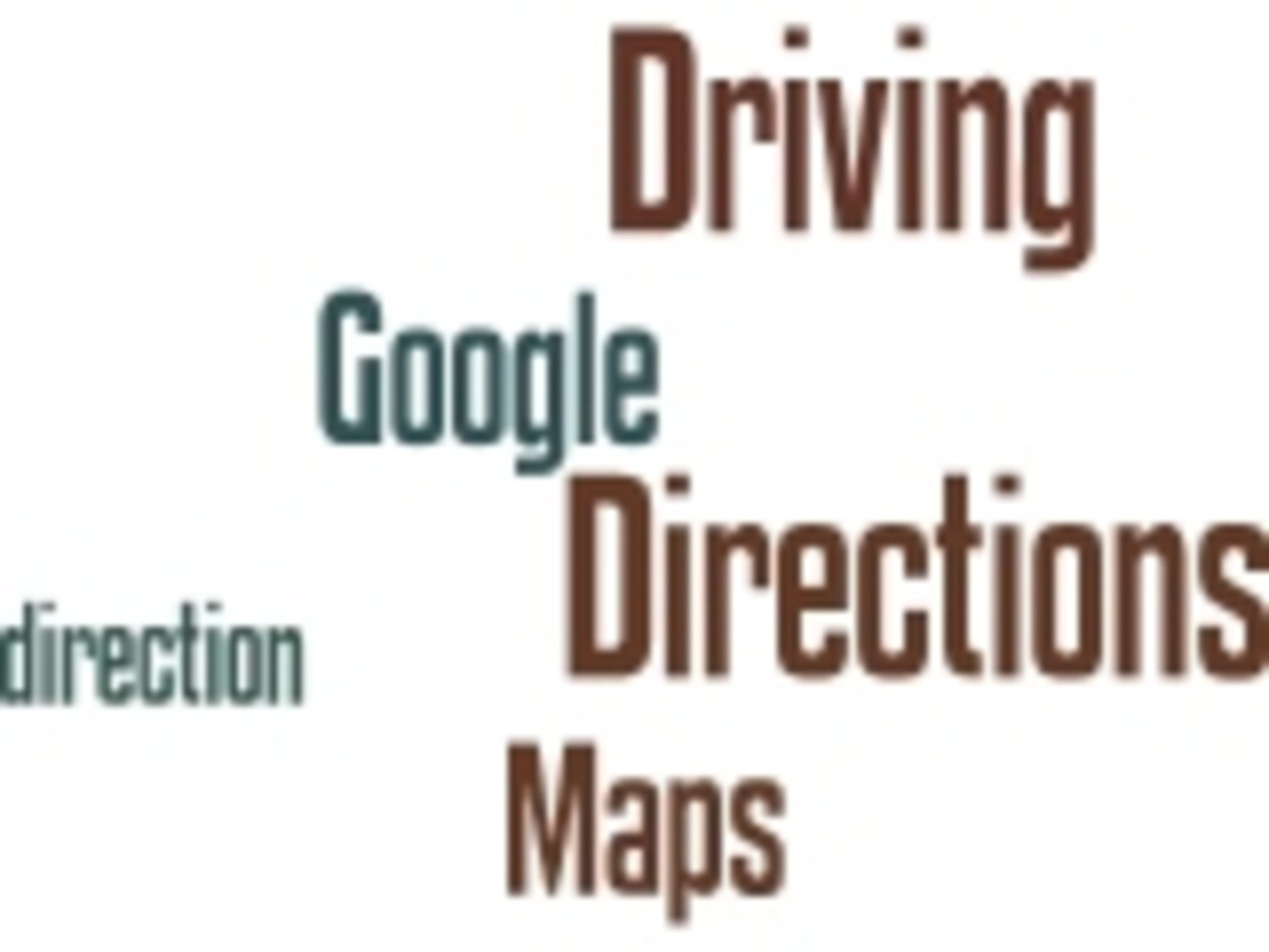 Google Maps Driving Directions Wordle by Humagaia