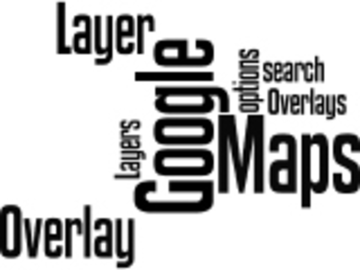 Google Maps Overlays and Layers Wordle by Humagaia