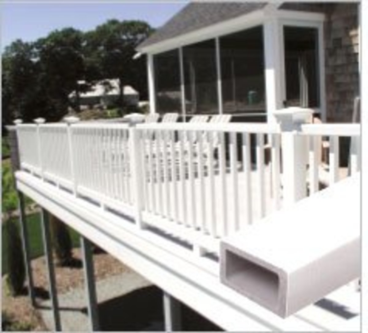 maintenance free vinyl railings