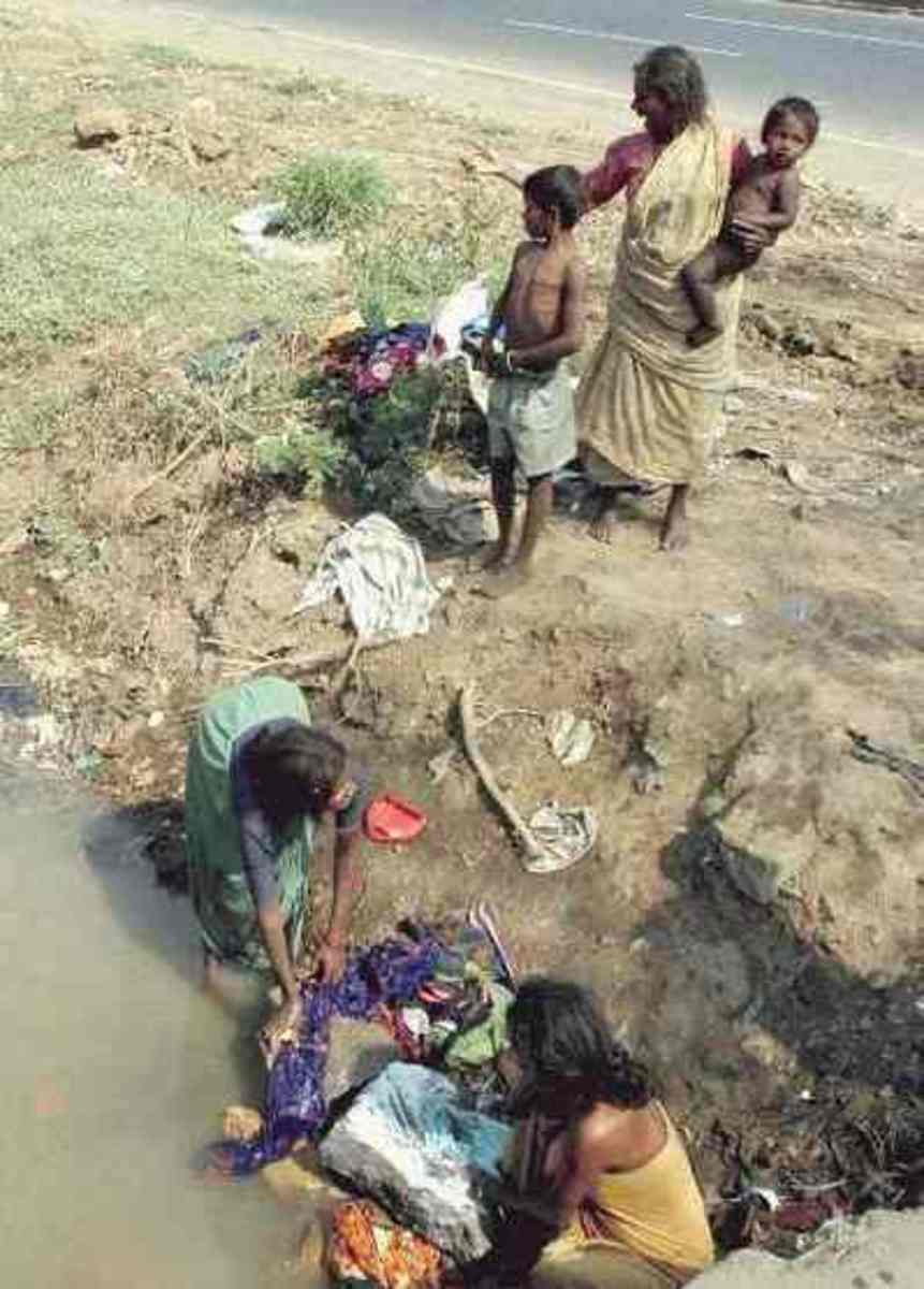Poverty and suffering in the Third World, today.