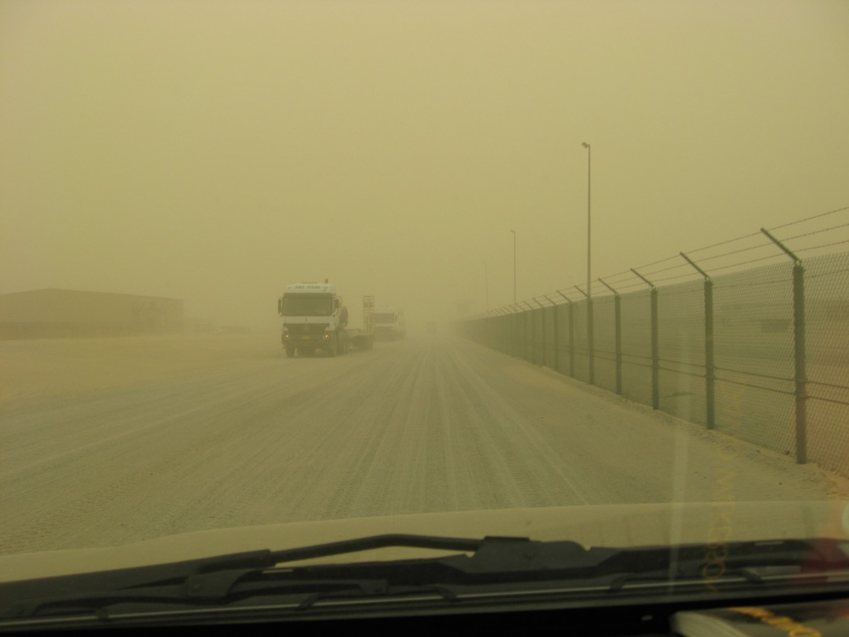 A nasty sandstorm (Photo Courtesy of U.S. Army)