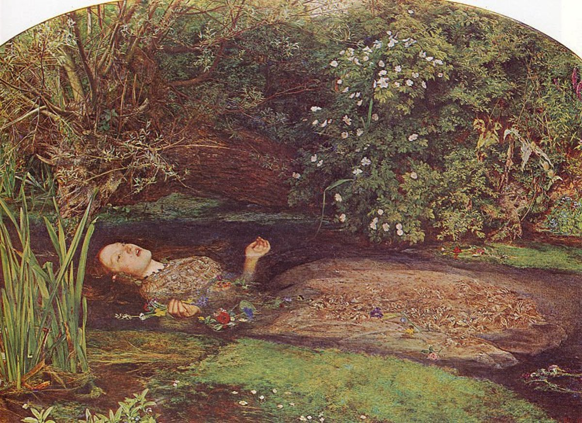 Famous paintings of Ophelia by Millais, Waterhouse and other artists
