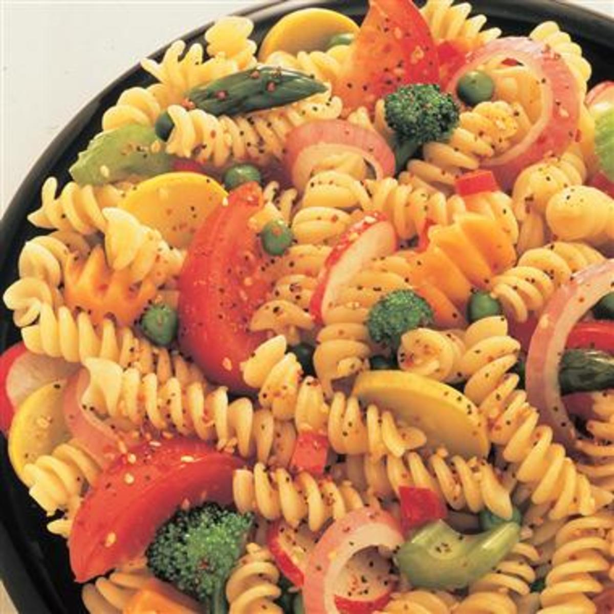 refined carbohydrate : pasta