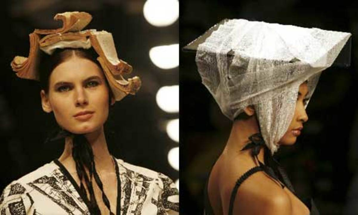 Who wouldn't want to wear a pile of old books on their head?