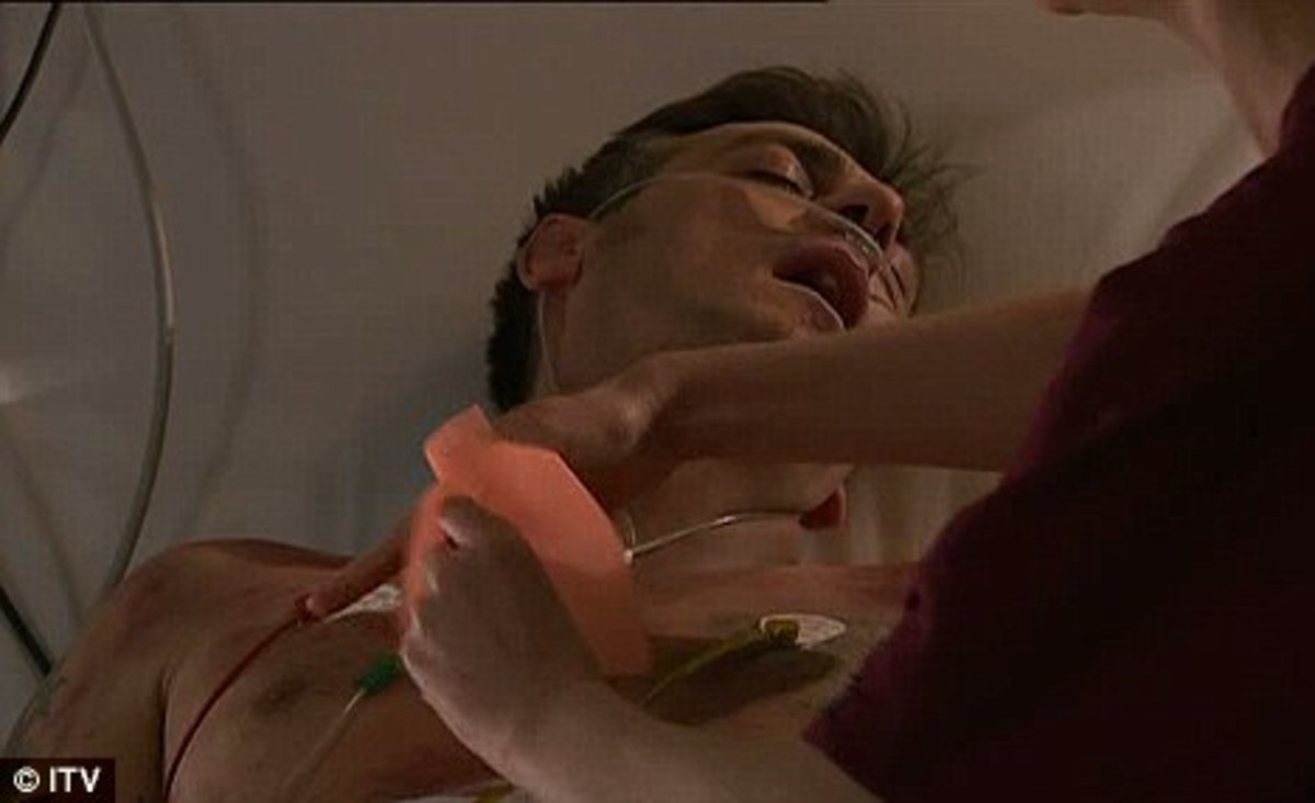 seconds after the vicor declares Peter and Leanne husband and wife he goes into relapse..........will he live or die?