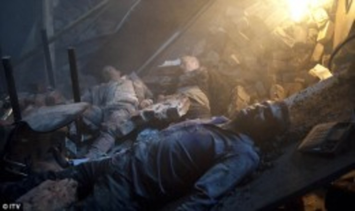 Peter, Ashley and Nick are all burried beneath the rubble