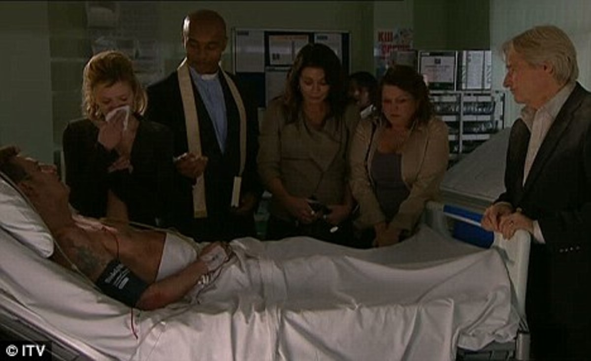 while Peter is fighting for his life in hospital, he makes a wish to marry Leanne and so their wedding goes ahead at his bedside