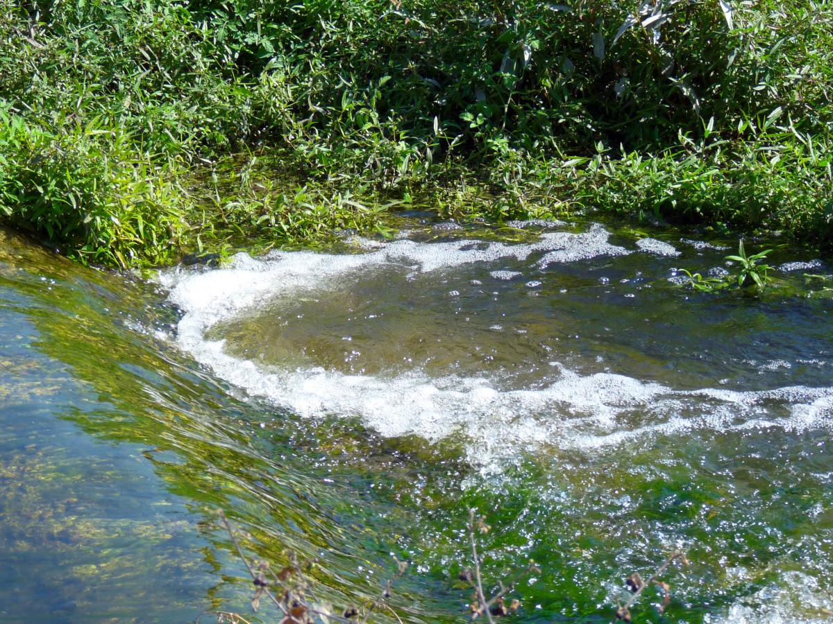 Although the Amadorio is called a river it is in fact most of the time only a small slow moving stream.