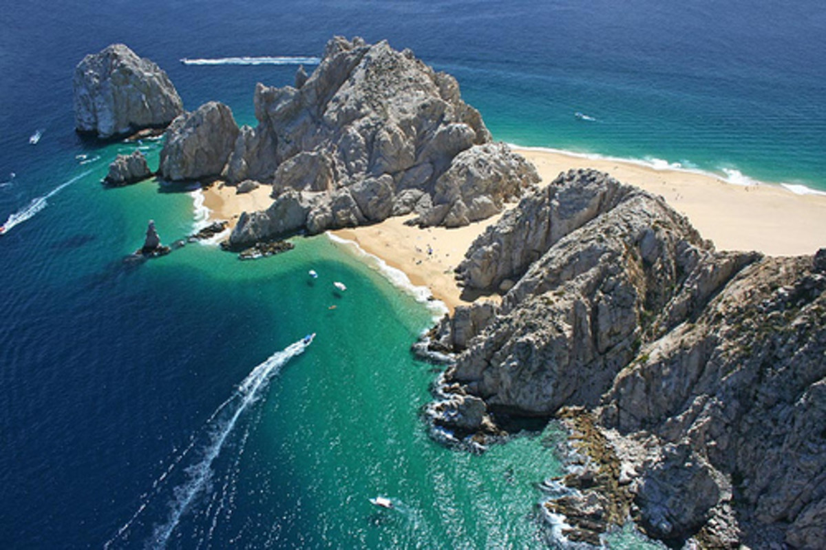 Lands End beach at Cabo San Lucas, a popular port-of-call for Mexican Riviera cruises