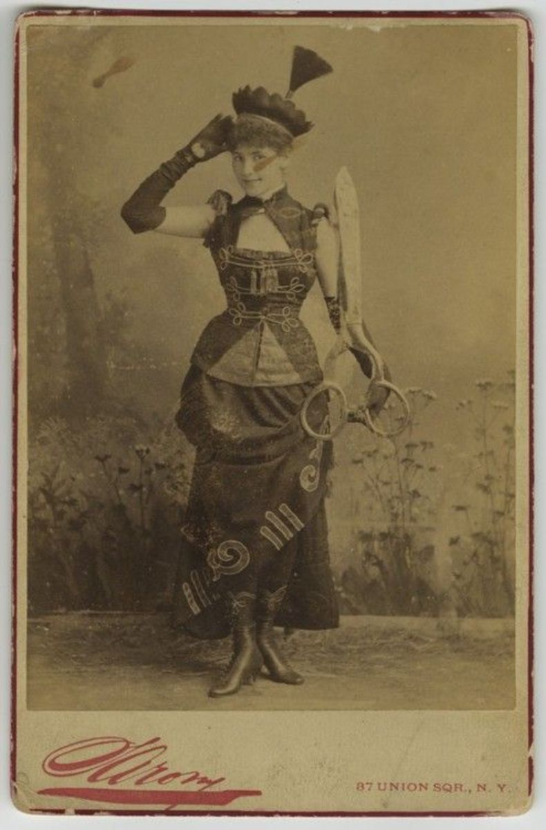 """""""Sewing"""" concept costume C. 1880's"""