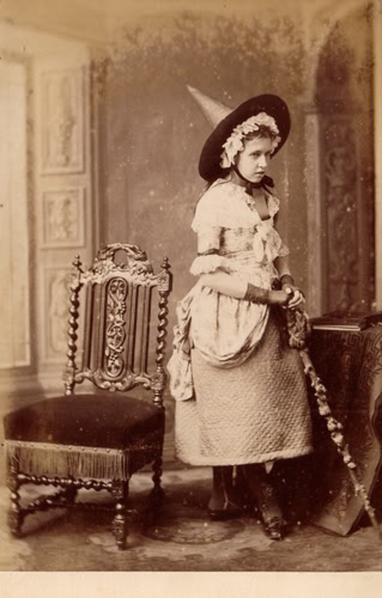 The Victorians often wore their everyday clothing, altering pieces here and there to create a costume.