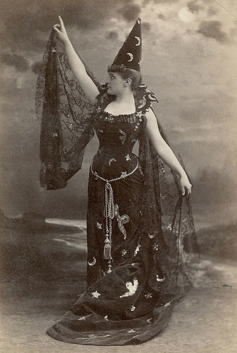 A witchy costume from the 1880's.