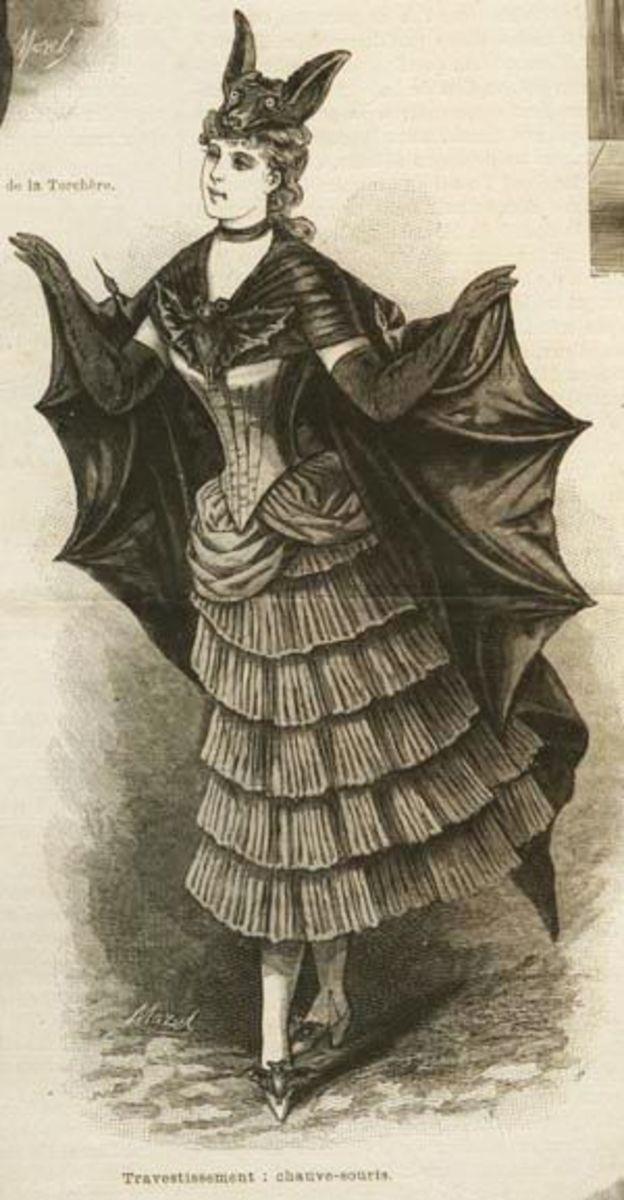 Victorian Bat Costume.