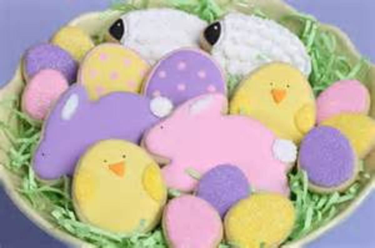 Decorated Easter Egg Cookies