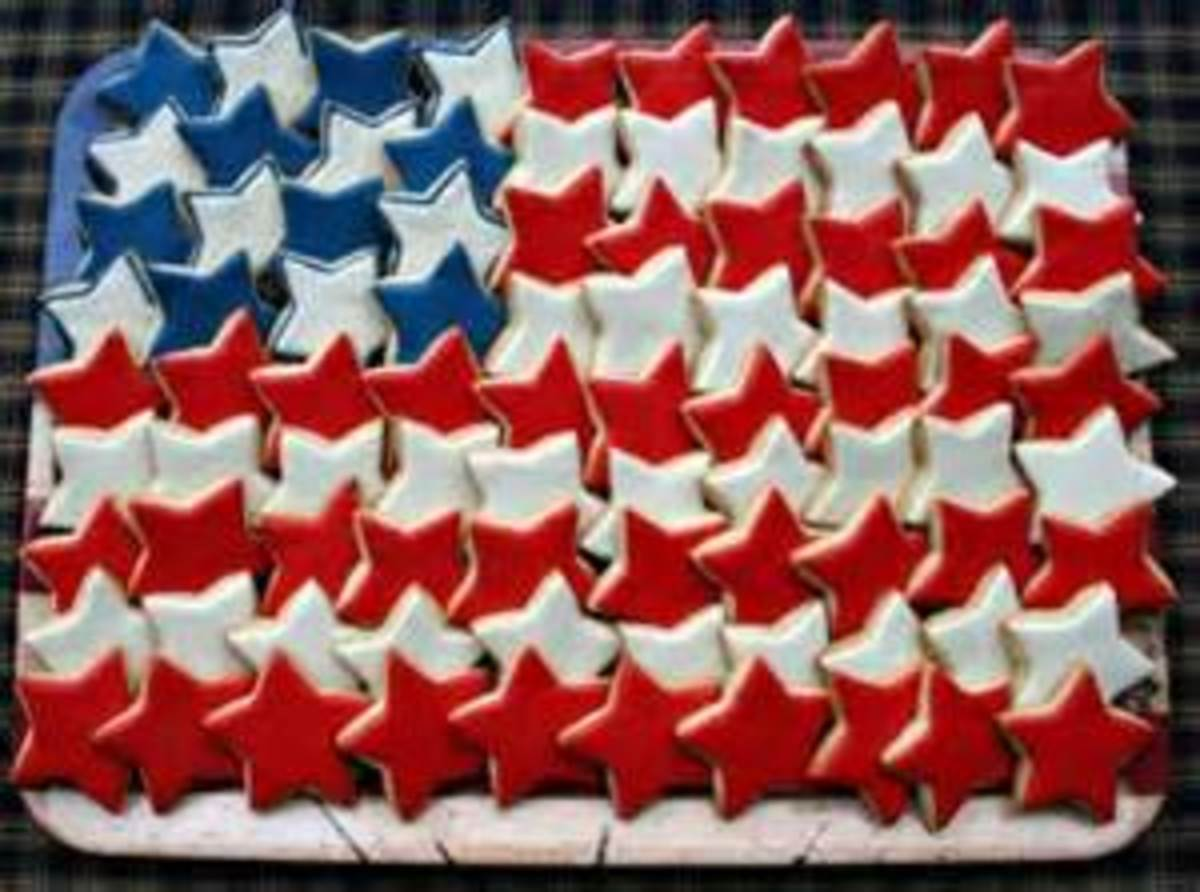 Flag Cookie Tray for Memorial Day