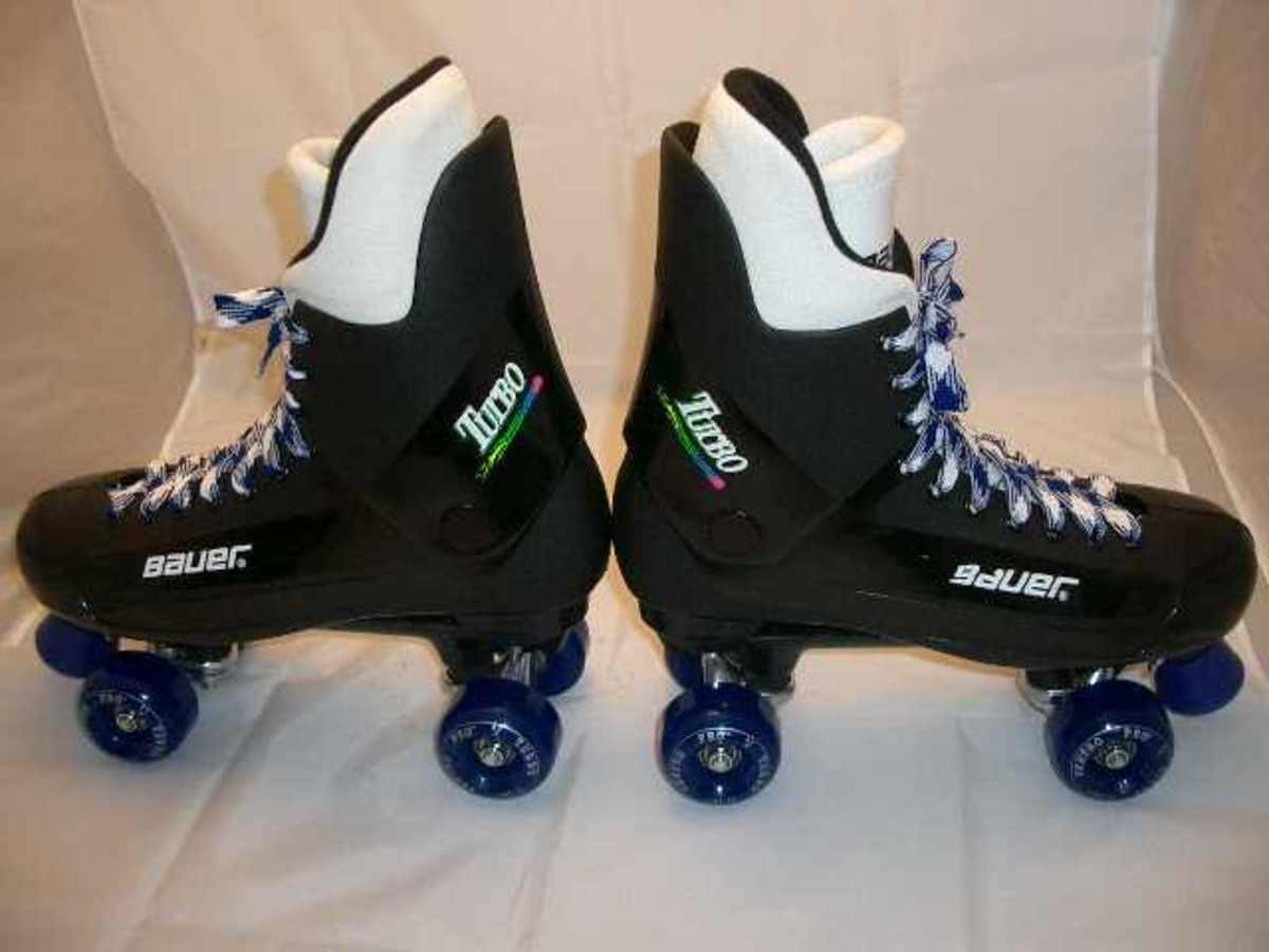 You Just Had To Have Bauer Turbo Quad Roller Skates With 2 Tone Sims Wheels
