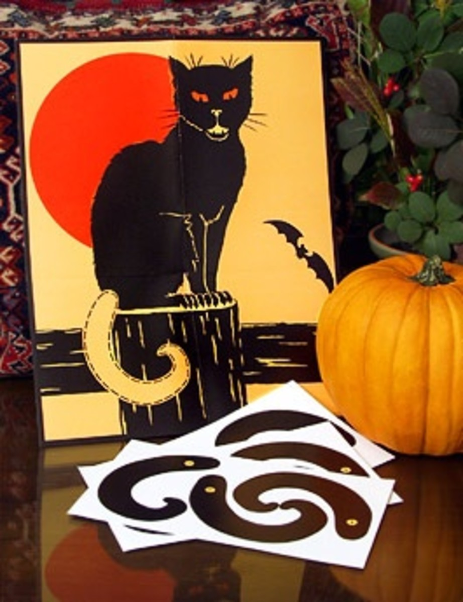 Black Cats And Pumpkins Go Together Don't They.