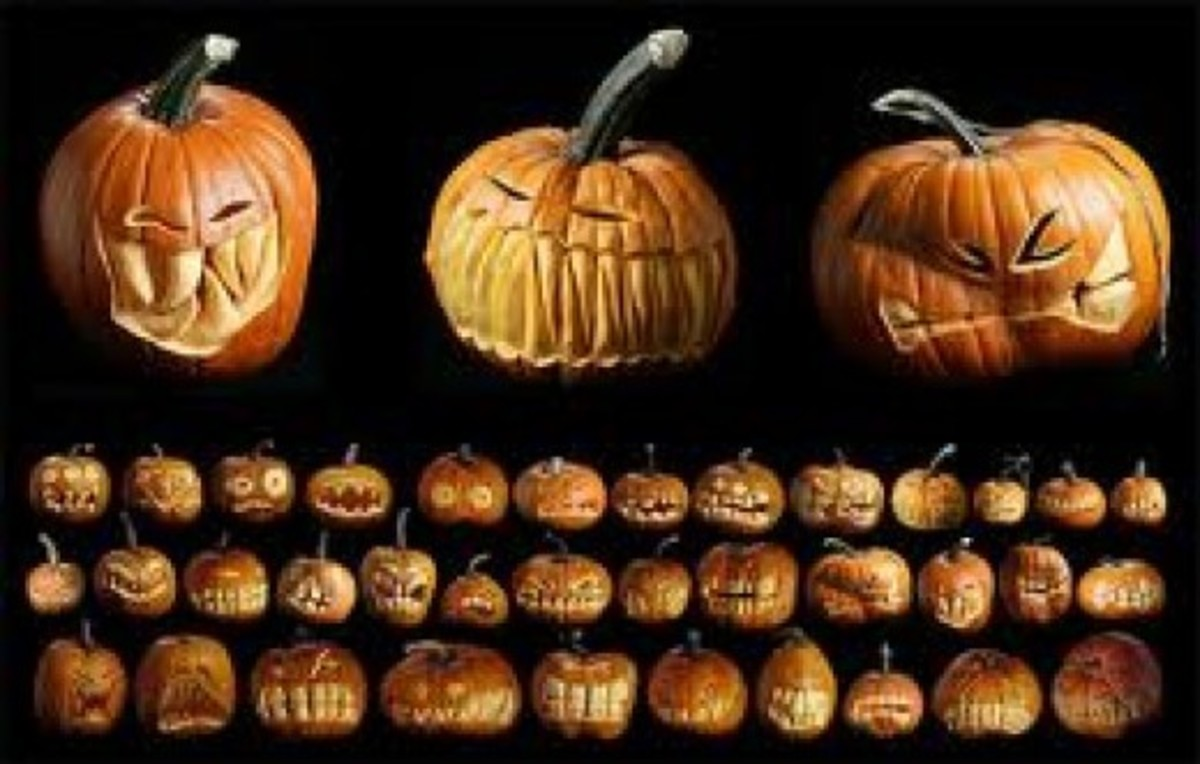 A Collection Of Spooky Jack O' Lanterns.