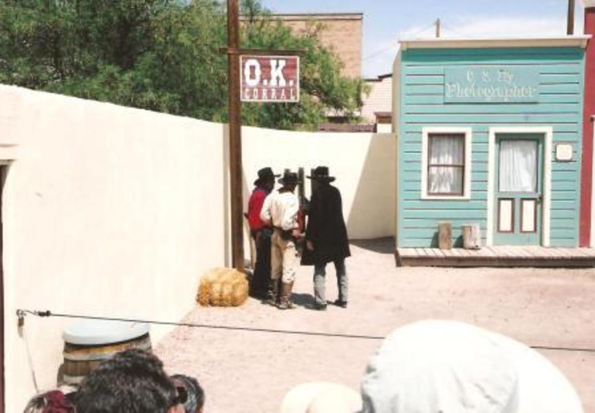 Re-inactment of the Fight at the O.K. Corral