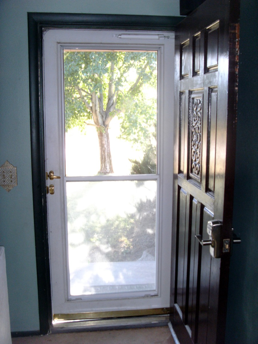 Let the fresh air and sunshine in with a storm door