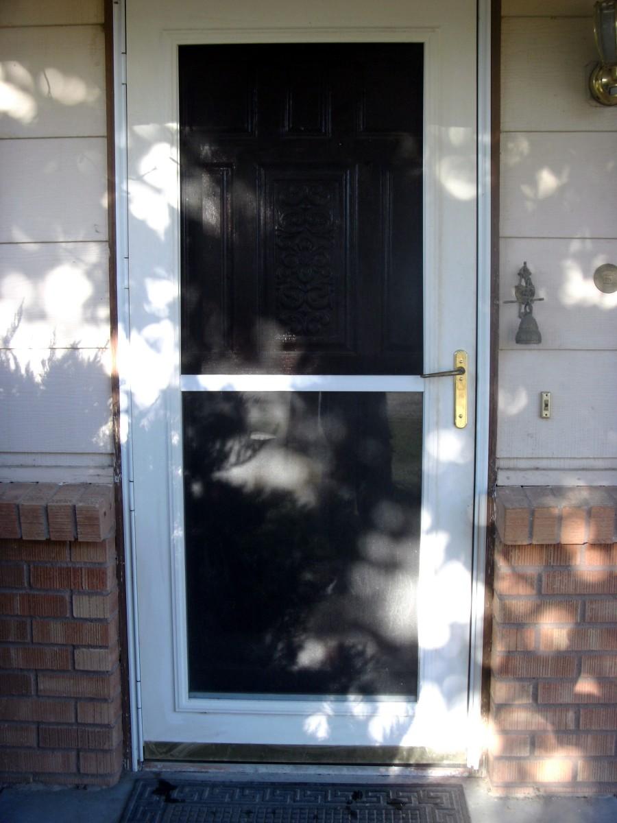 Storm door installation complete