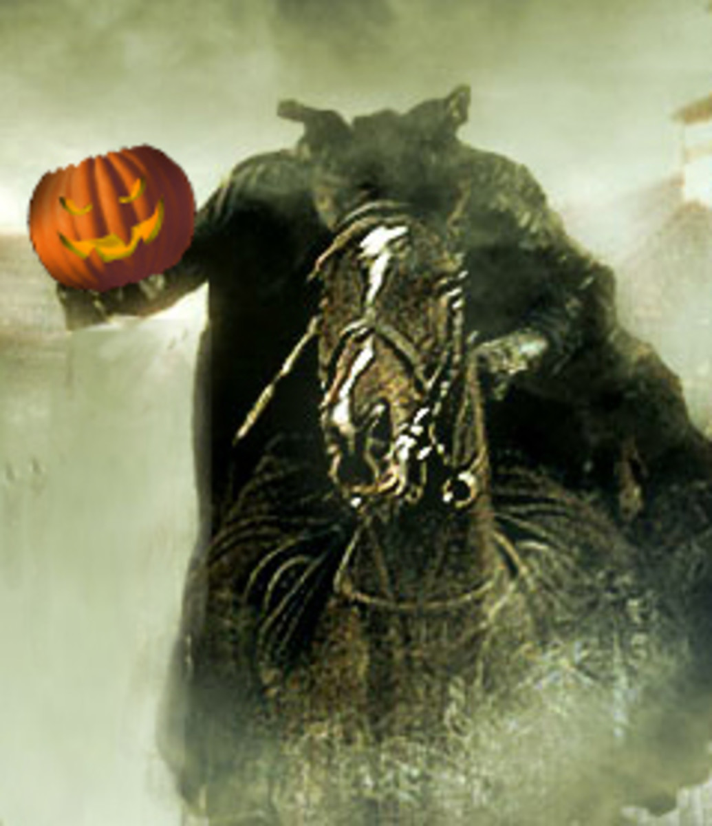 The Headless Horseman thundered towards us - Image by RedElf, photo from 123nonstop.com