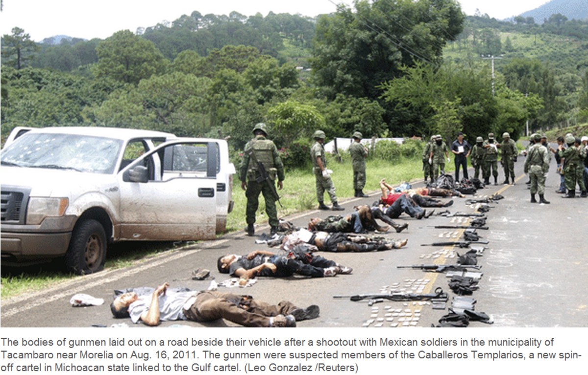 In Mexican drug cartel wars many thousands have died, some Americans, and many innocent Mexican citizens.