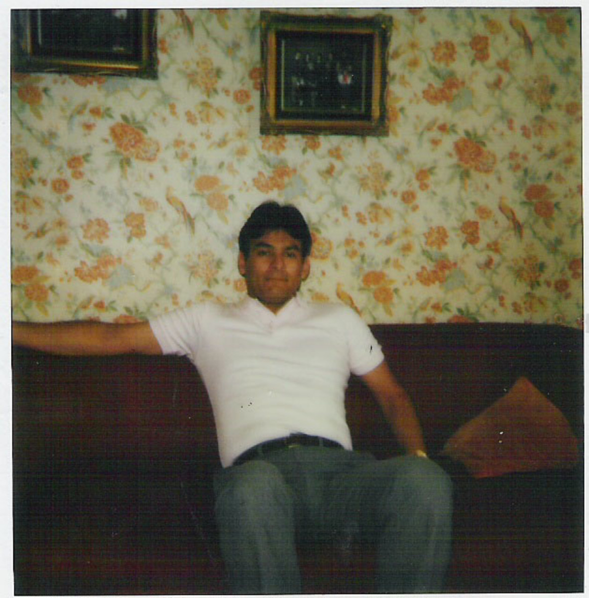 Me in the living room of our flat