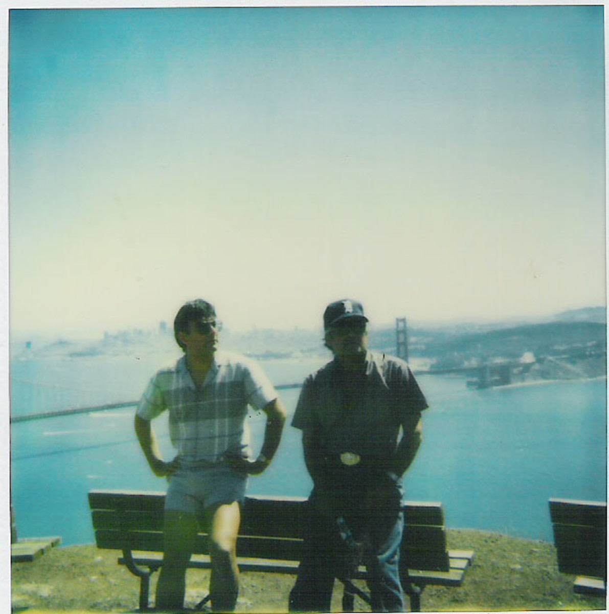 Me and my dad at the Marin Headlands with San Francisco in the background