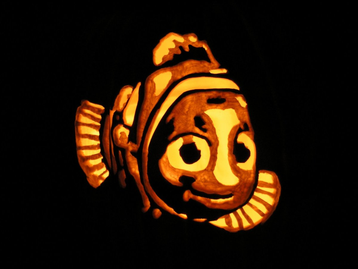 Pumpkin Carving Template Disney
