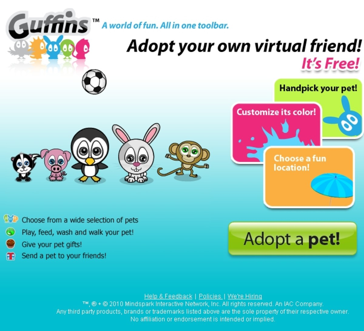 You can visit Guffins.com and click on Adopt a Pet