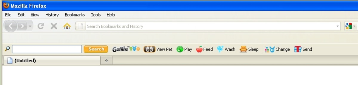 The Guffin Toolbar. Your virtual pet is always available.