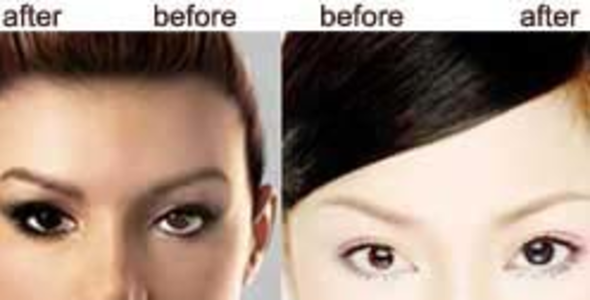 As demonstrated on 1-Save-On-Lens' site, some lenses make eyes look larger.