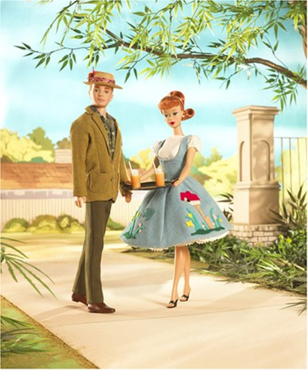 Barbie and Ken reproduction poster