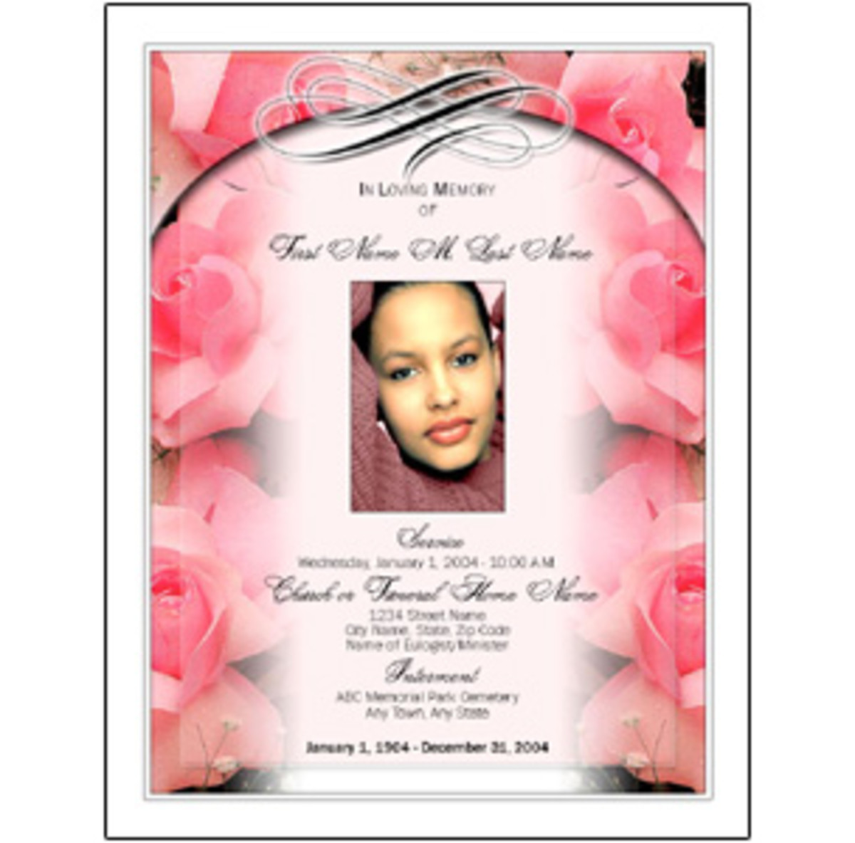 Beautiful Funeral Program