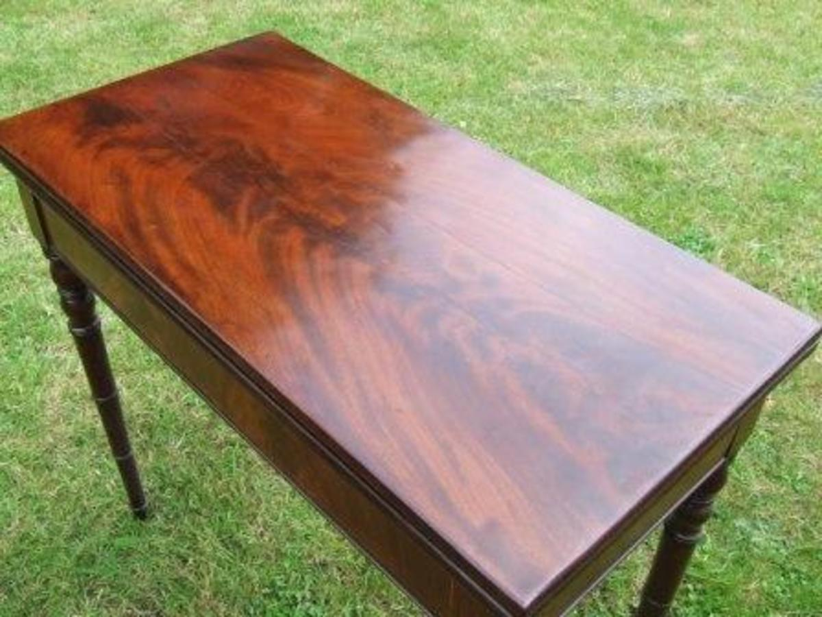 flame mahogany table
