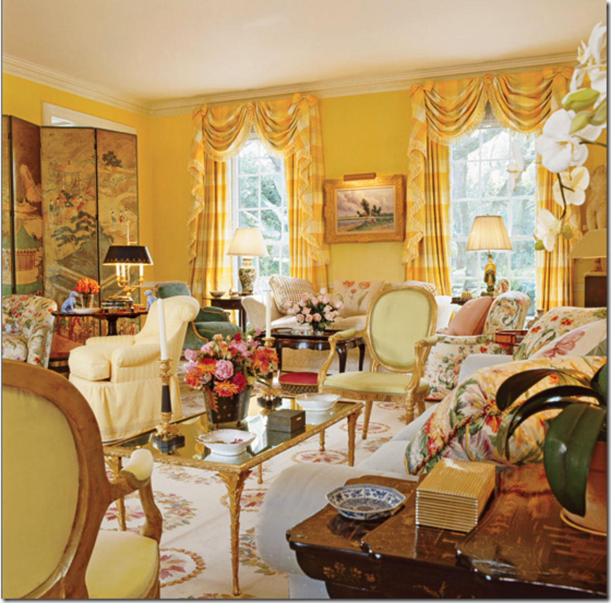 Beautiful Yellow Room Design