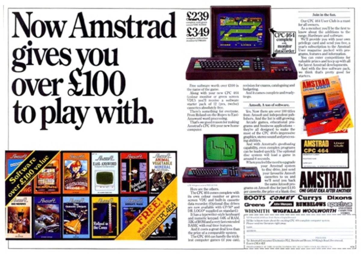 A nice brochure giving plenty of detail about the Amstrad CPC 464 computer