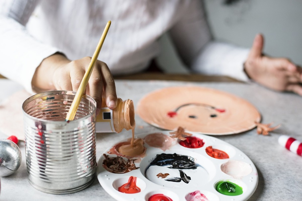 Toddlers enjoy creating gifts...supervised, of course.