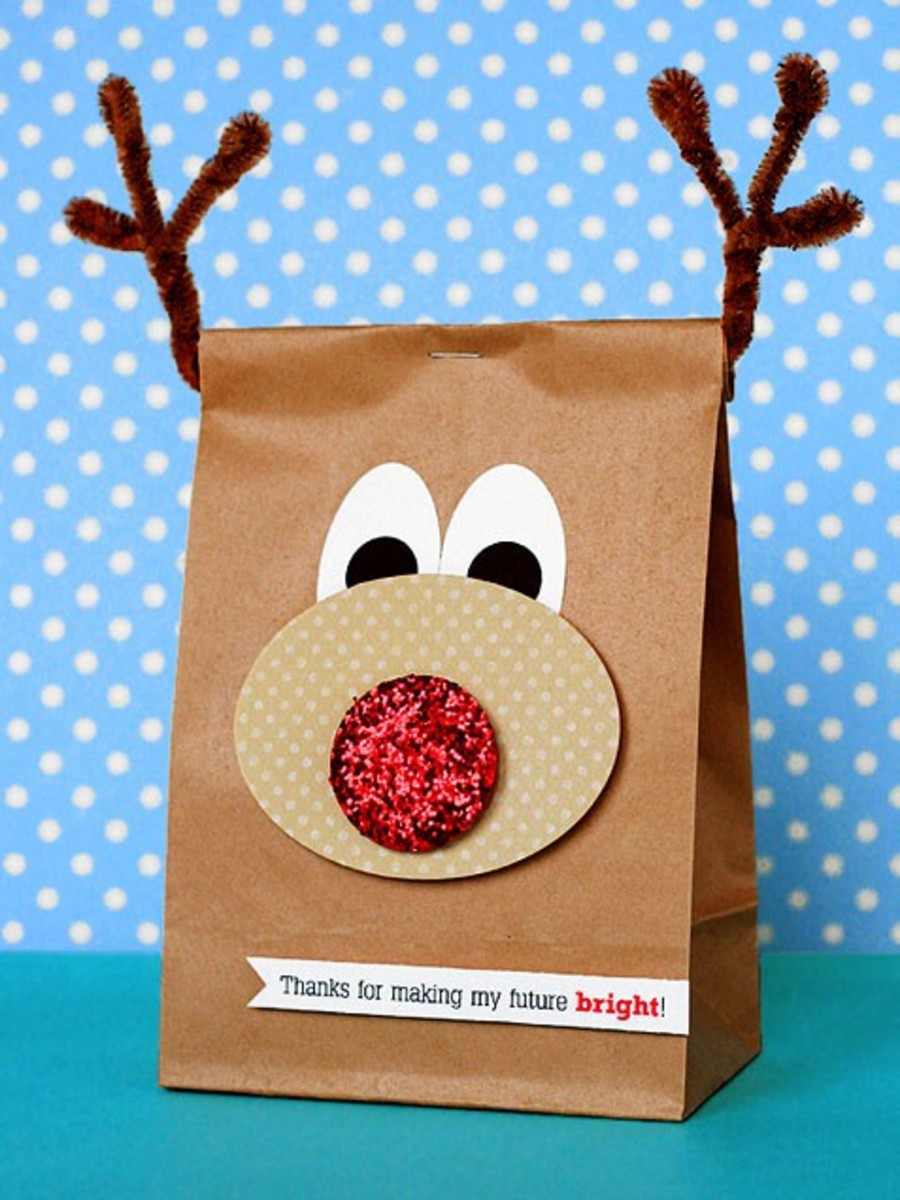 Your kids will love making this gift bag our of an ordinary brown paper bag.