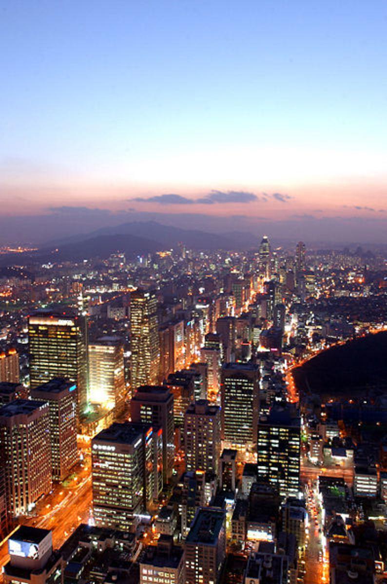 Seoul st Night, Korea Capital City