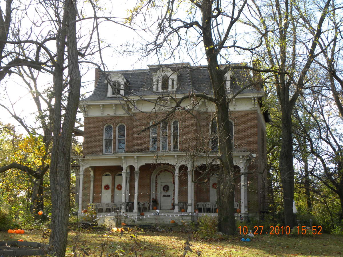The McPike Mansion in Alton, Illinois. It's reputed to be haunted, especially the wine cellar in the basement.