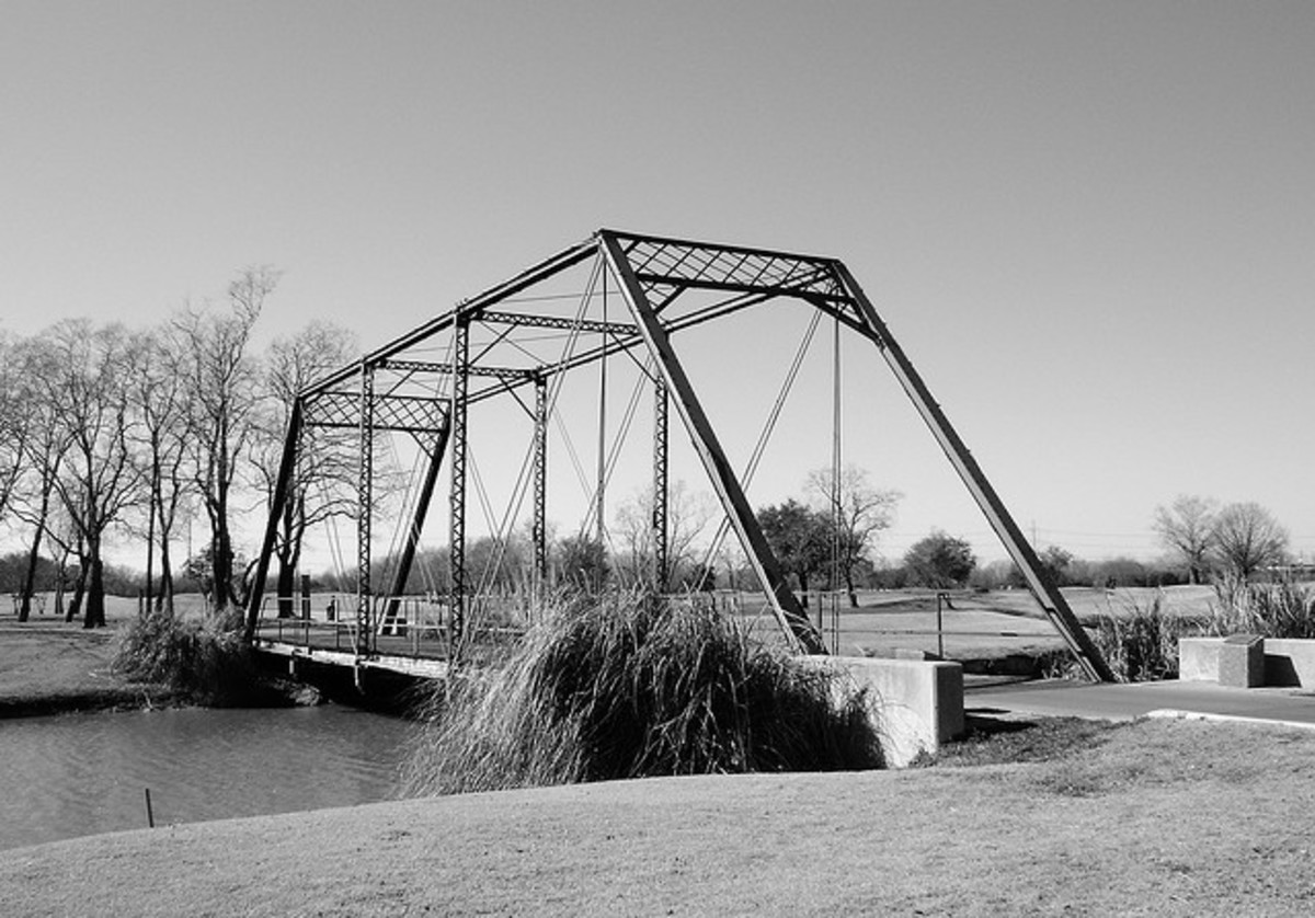 A Pratt Truss Bridge