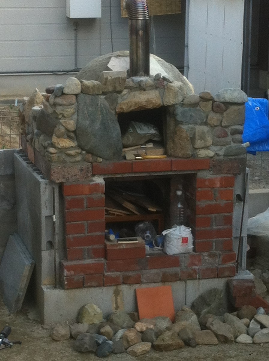 A construction photo of my wood fired oven.