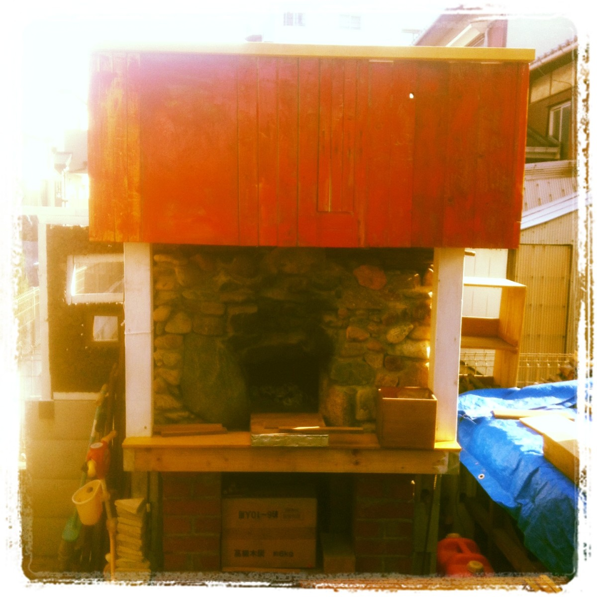 My Wood Fired Oven in my backyard.