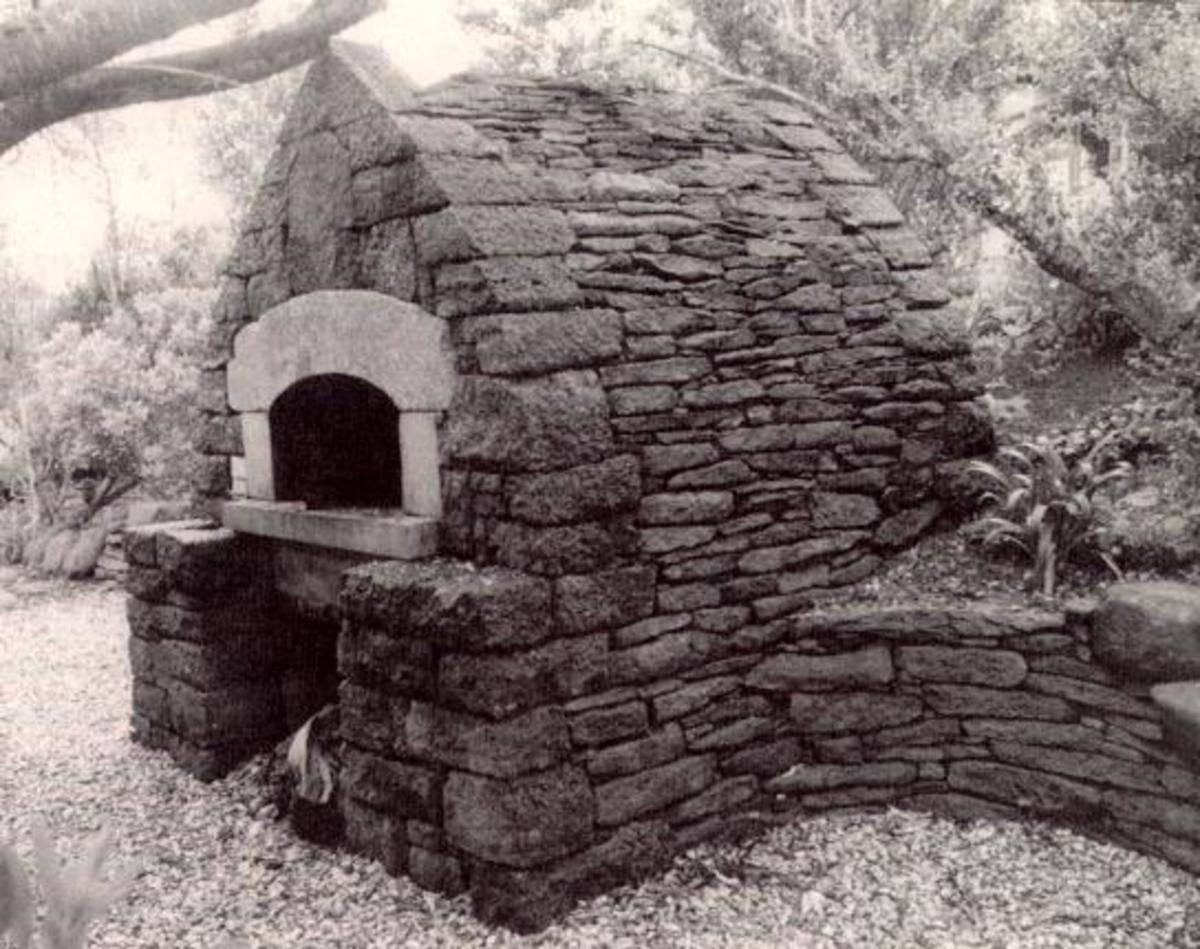 An authentic communal oven made from stone.